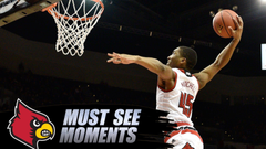 Louisville s Donovan Mitchell Winds Up For Huge Alley Oop Dunk