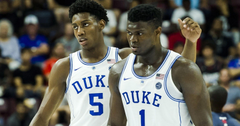 Duke s R J Barrett Zion Williamson put on dunk show for fans