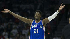 Joel Embiid out indefinitely with swelling in knee will have MRI