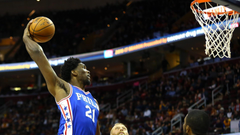 Highlights Joel Embiid scores 12 points vs LeBron James and the