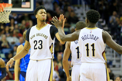 Jrue Holiday might finally join Anthony Davis in the starting