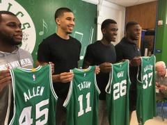 Isaiah Thomas welcomes Jayson Tatum Semi Ojeleye to Boston