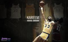 The legendary basketball player Kareem Abdul