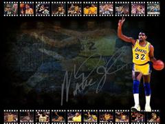 Magic Johnson LA Lakers Signed Wallpapers