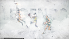 Magic Johnson Larry Bird Michael Jordan Legends