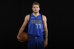 Dallas Mavericks Luka Doncic dons his Mavs uniform for first time