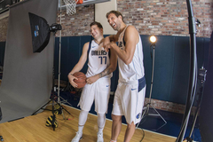Dirk Nowitzki knows he doesn t have to do much to help Luka Doncic