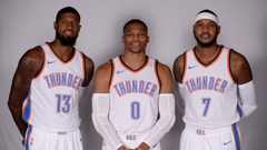 Carmelo Westbrook Paul George now have their own OKC Snapchat