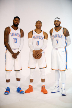 Carmelo Russell Westbrook and Paul George already have their own