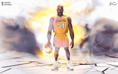 Shaquille O Neal Caricature NBA Wallpapers by skythlee