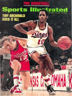 NBA Sport Illustrated oct 15 1973 Tiny Archibald