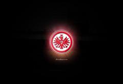 Eintracht Frankfurt Logo Sport Wallpapers Black Wallpapers