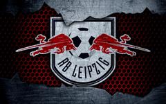 wallpapers RB Leipzig 4k logo Bundesliga metal texture