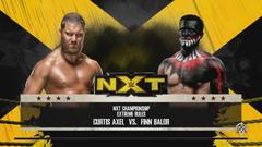 NXT TakeOver Curtis Axel vs Finn Bálor NXT Championship Match WWE