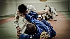 Sports fight gracie jitsu jiu