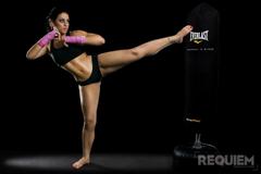 kickboxing girl workout kick HD wallpapers