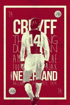 Johan Cruyff of Ajax Amsterdam wallpaper