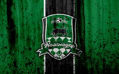 wallpapers 4k FC Krasnodar grunge Russian Premier League