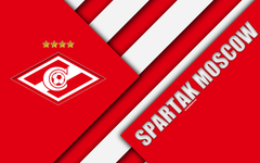wallpapers FC Spartak Moscow 4k material design red