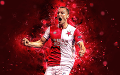 wallpapers Vladimir Coufal defender Slavia Prague FC joy