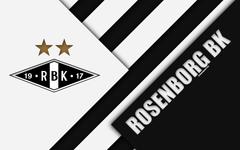 wallpapers Rosenborg BK 4k logo material design