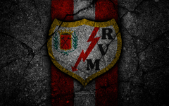 wallpapers 4k FC Rayo Vallecano logo Segunda Division