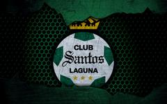 wallpapers FC Santos Laguna 4k green background Liga MX