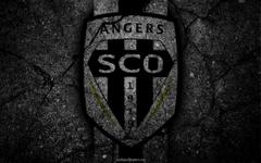 wallpapers Angers logo art Liga 1 soccer Angers SCO