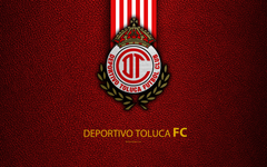 wallpapers Deportivo Toluca FC 4k leather texture logo