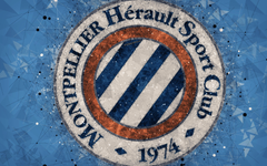 wallpapers Montpellier HSC 4k geometric art French