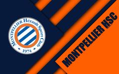 wallpapers Montpellier HSC 4k material design logo