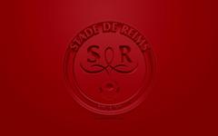 wallpapers Stade de Reims creative 3D logo dark red