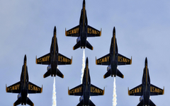 wallpapers Blue Angels aviation aerobatics group