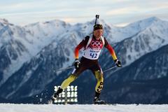 Erik Lesser German biathlete winner of the silver medal wallpapers