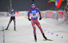 wallpapers Anton Shipulin 4k biathlete race winter