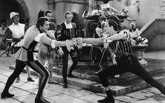 Fencing Duel Old Movie 4K HD Desktop Wallpapers for