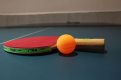 Stag Table Tennis Yellow Ball And Racket