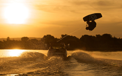 Wakeboarding At Sunset Full HD Wallpapers and Backgrounds Image
