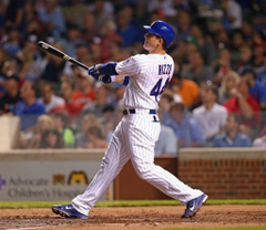 Anthony Rizzo in Cincinnati Reds v Chicago Cubs