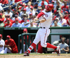 Nationals slugger Bryce Harper hits two more for five home runs