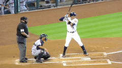 Carlos Correa at bat Minute Maid Park 9 6 15