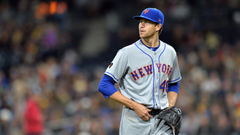 Jacob deGrom leading 1st place Mets