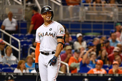 Giancarlo Stanton wasn t happy after the Marlins lost to rival