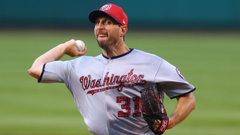 Max Scherzer hits home run leaves game with apparent injury