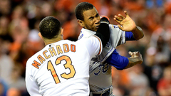 WATCH Manny Machado charges mound after HBP brawls with Yordano