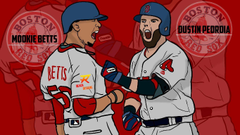 Dustin Pedroia and Mookie Betts Illustration By Reach
