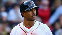 Red Sox OF Mookie Betts drove his golf cart into a lake
