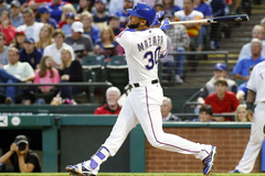 Nomar Mazara and the Rangers crowded outfield
