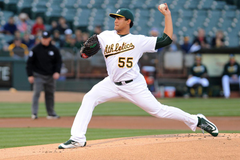 Oakland A s starter Sean Manaea exits game with left pronator