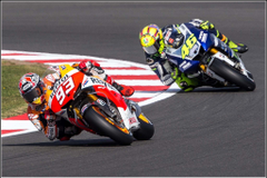 Marc Marquez and Valentinno Rossi Wallpapers